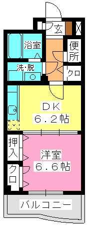 セトル吉塚 / 603号室間取り