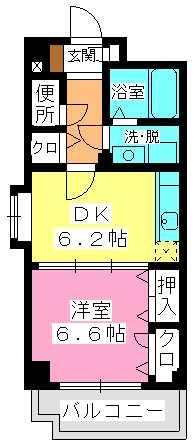 セトル吉塚 / 705号室間取り