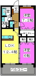 リバーランド箱崎Ⅴ / 402号室間取り