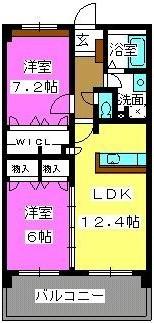 リバーランド箱崎Ⅴ / 405号室間取り