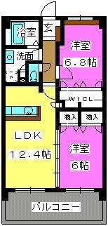 リバーランド箱崎Ⅴ / 603号室間取り