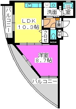 ラフィーネ・箱崎 / 203号室間取り