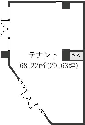 ラフィーネ・箱崎 / 店舗1号室間取り
