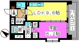 カーム ヴィラ / 201号室間取り