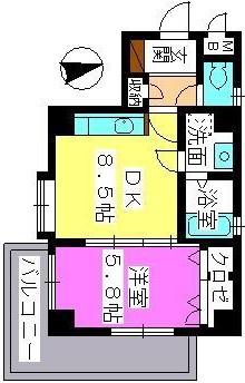 アスティオン中島 / 405号室間取り