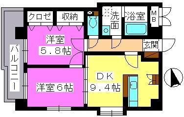 アスティオン中島 / 502号室間取り