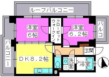 アスティオン中島 / 501号室間取り