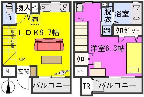 ラ・ネージュ / 203号室間取り
