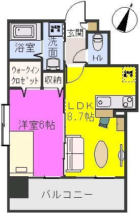 グランシャリオ / 201号室間取り