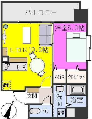 グランシャリオ / 403号室間取り