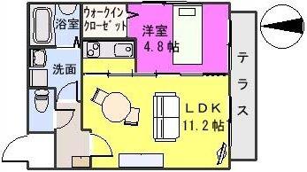 SUN STELLA / 102号室間取り