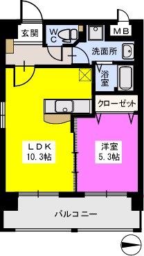 リバーランドⅥ / 405号室間取り