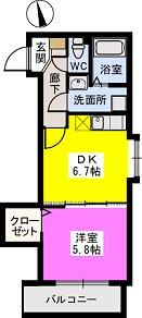 メゾンスペース / 105号室間取り