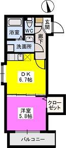 メゾンスペース / 201号室間取り