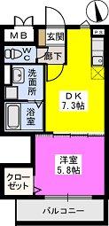 メゾンスペース / 202号室間取り