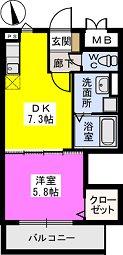 メゾンスペース / 203号室間取り