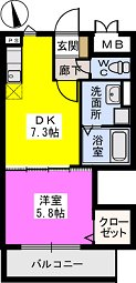 メゾンスペース / 303号室間取り