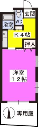 パークサイド黒川 / 102号室間取り