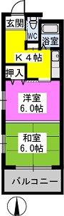 パークサイド黒川 / 302号室間取り