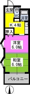 パークサイド黒川 / 304号室間取り