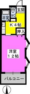パークサイド黒川 / 401号室間取り