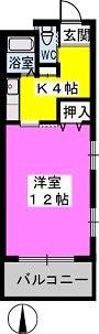 パークサイド黒川 / 403号室間取り