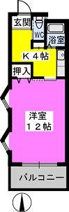 パークサイド黒川 / 404号室間取り