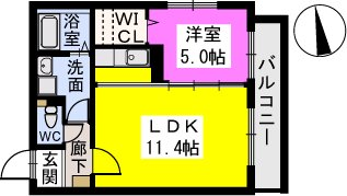 テゾーロカーザ / 103号室間取り