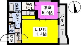 テゾーロカーザ / 203号室間取り