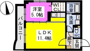 テゾーロカーザ / 302号室間取り