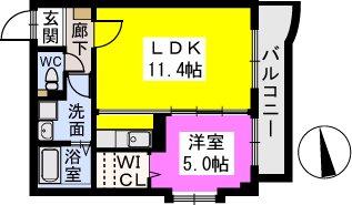 テゾーロカーザ / 305号室間取り