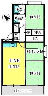 ふじよしビル / 205号室間取り