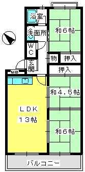 ふじよしビル / 401号室間取り