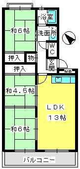 ふじよしビル / 402号室間取り