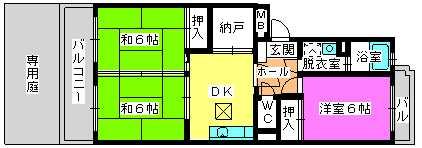 レジデンス牛房 / 102号室間取り