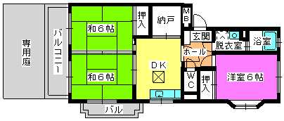 レジデンス牛房 / 105号室間取り