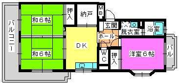 レジデンス牛房(ペット可) / 201号室間取り