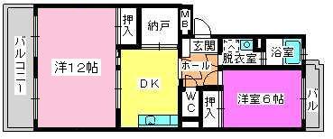 レジデンス牛房(ペット可) / 203号室間取り
