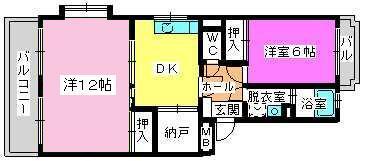 レジデンス牛房(ペット可) / 305号室間取り