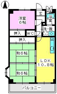 パステルハイムⅡ / 201号室間取り