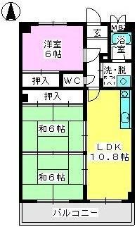 パステルハイムⅡ / 203号室間取り