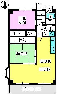 パステルハイムⅡ / 401号室間取り