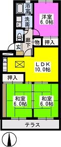 Flower'24 / 102号室間取り