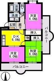 Flower'24 / 207号室間取り