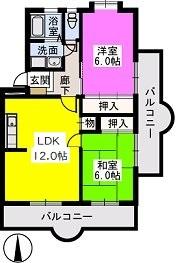 Flower'24 / 407号室間取り