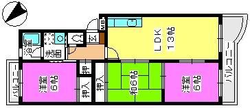 エクセル篠栗 / 303号室間取り