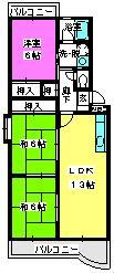 エクセル篠栗 / 401号室間取り