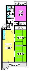 エクセル篠栗 / 405号室間取り