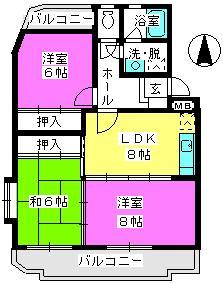 サンハイツKUDO / 401号室間取り