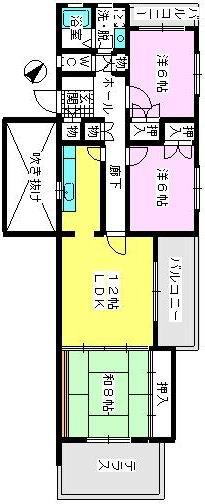グランドール藤本 / 101号室間取り